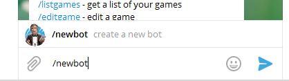 команда «/newbot» создаст нового бота
